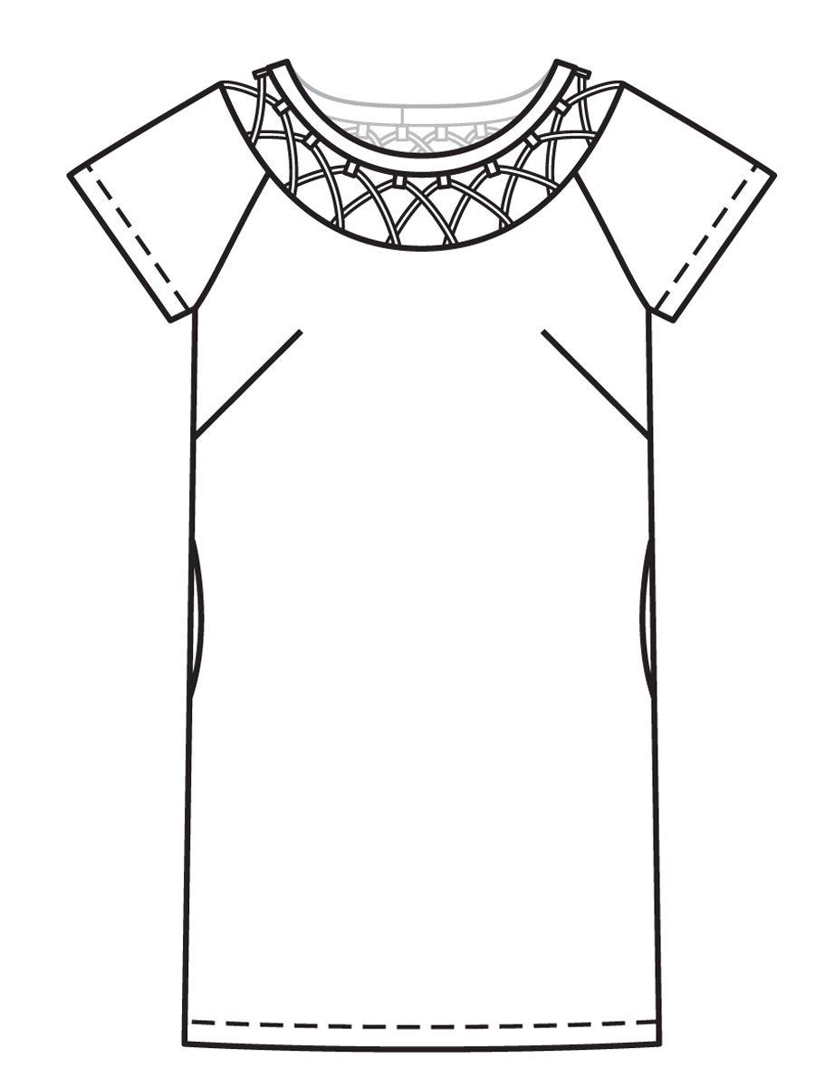 Платье прямого кроя выкройка из журнала burda