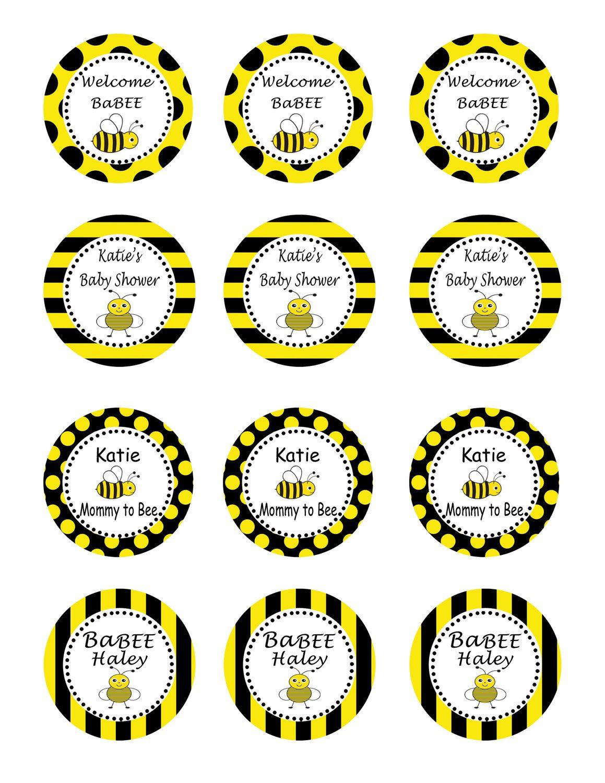 Bumble Bee Baby Shower Party Diy Printable Circles 10 00