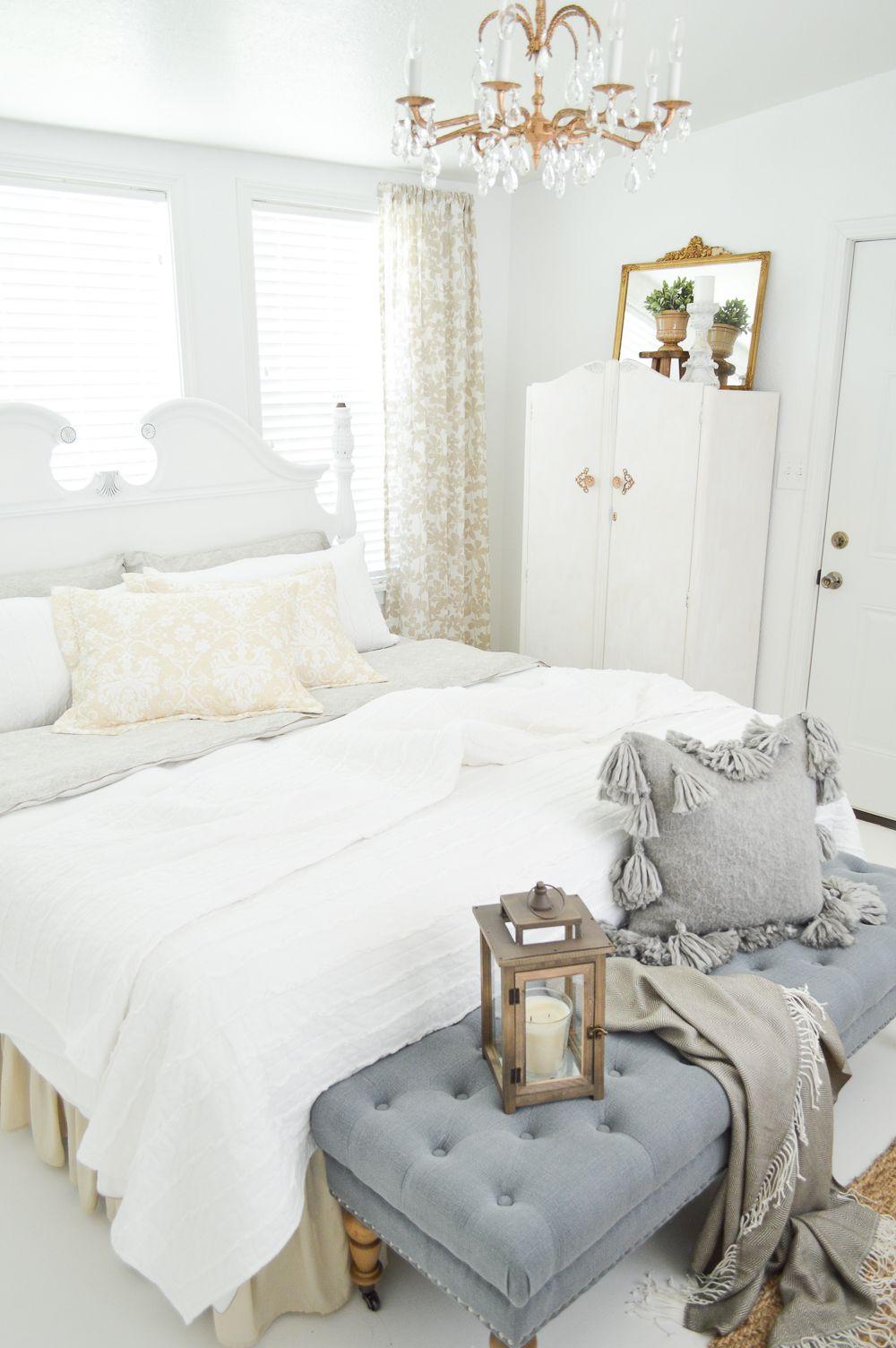 Vintage Cottage Guest Bedroom Makeover Interior Design Love