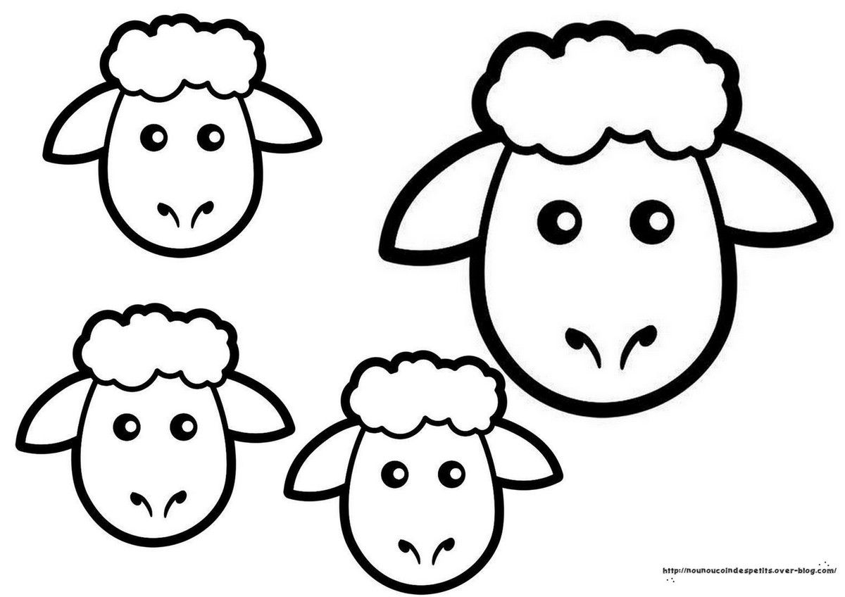Couronne mouton et petit mouton a suspendre - Photo de mouton a imprimer ...