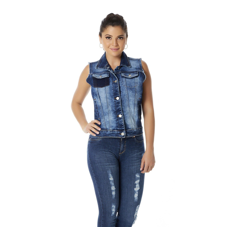 011-407 Chaleco Dama Terra - Azul_Mezclilla