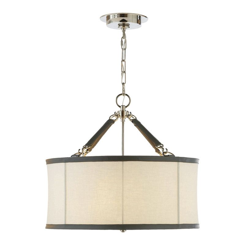 Broomfield Small Pendant in Polished Nickel - Ceiling Fixtures ...