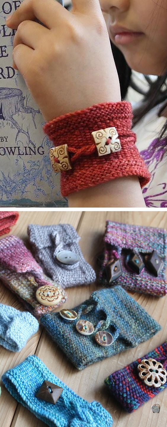 Photo of Free Knitting Pattern for Pretty Twisted Cuff – This trio of linen stitch bracel…