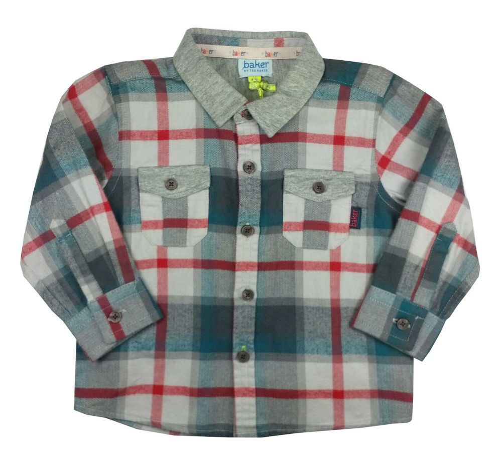 991c48d97e9a4 Ted Baker Baby Boys Shirt Checked Designer Colourful 9-12 Months ...