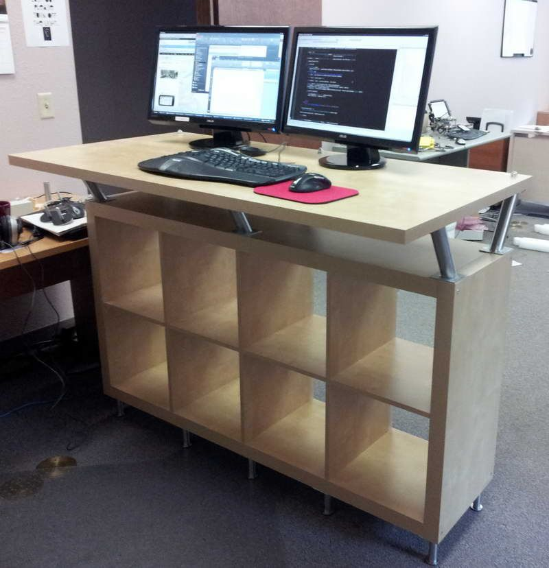 small office desk ikea stand office. Furniture : Standing Desk Ikea Shelves With Style - Furnishing Idea For Small Office Desk\u201a Building A Parts As Stand Pinterest
