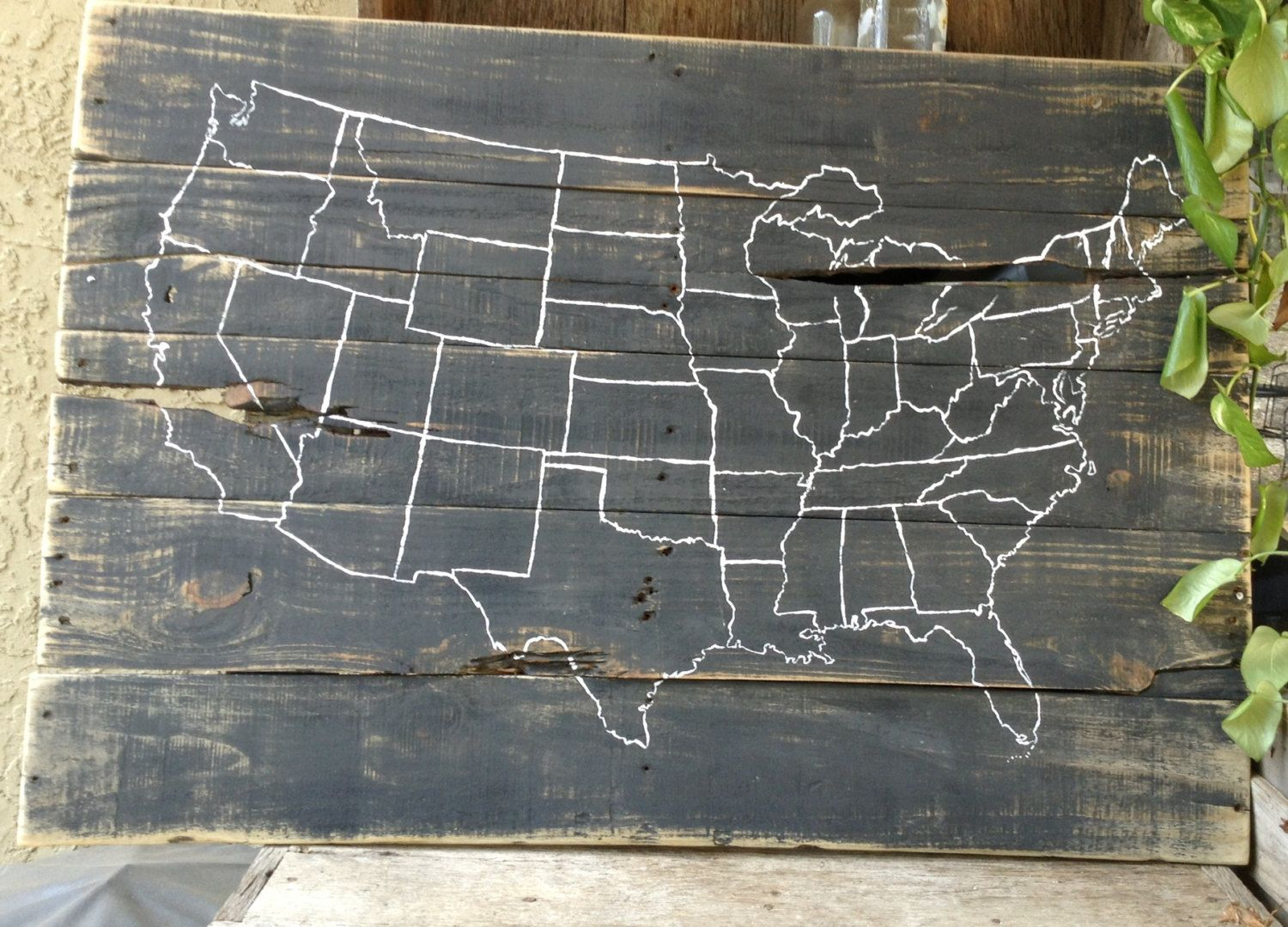 Love this pallet art map of united states us distressed pallet art map of united states us distressed primitive gumiabroncs Images