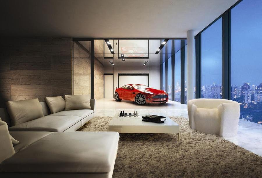 Aston martin inside home