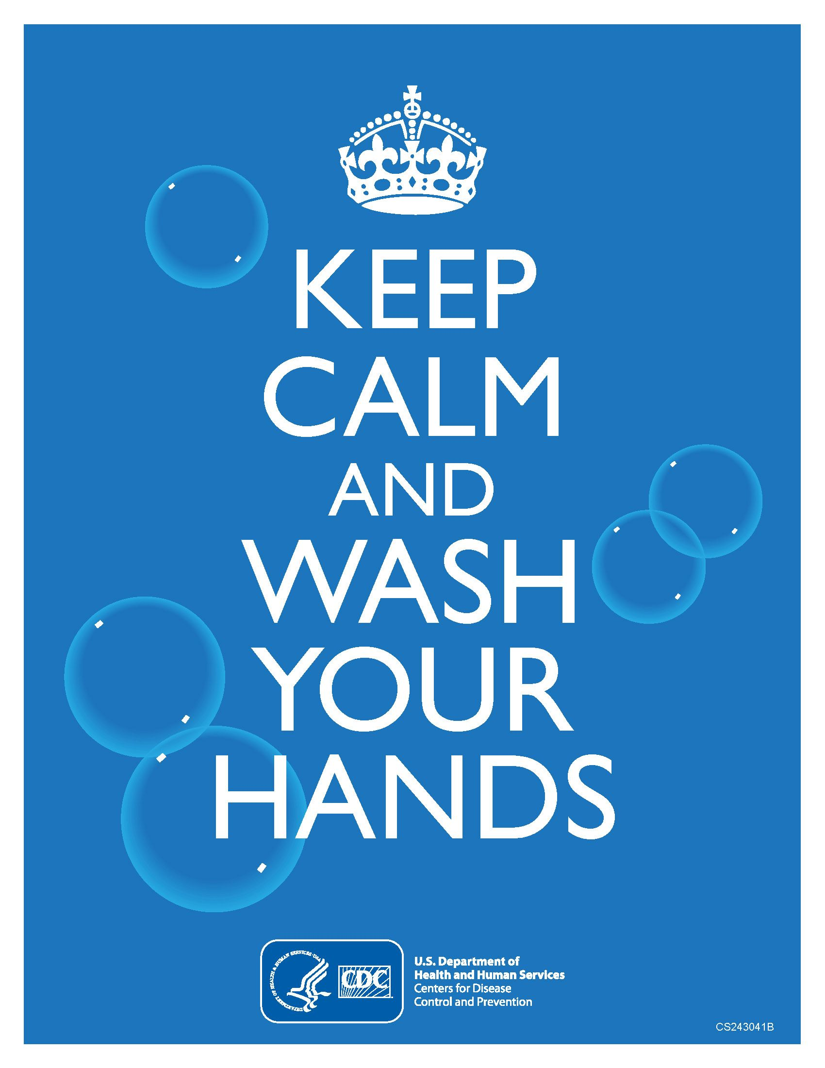 Keep Calm & Wash Your Hands Poster Coronavirus Disease
