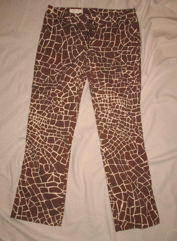 b29e1263a527 Vintage Escada Animal Print Pants Coated by Blueeggfarmboutique | My ...