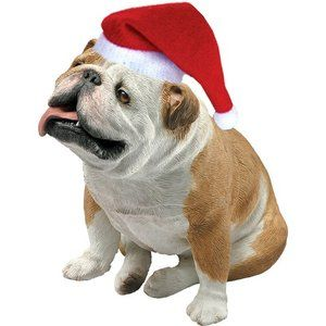 Sandicast Fawn Bulldog Christmas Ornament