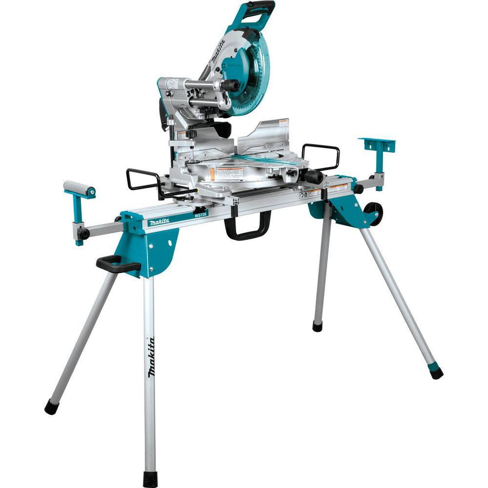 Makita 15 Amp 12 In Dual Bevel Sliding Compound Miter Saw With Laser And Stand In 2020 Sliding Compound Miter Saw Table Saw Compound Mitre Saw