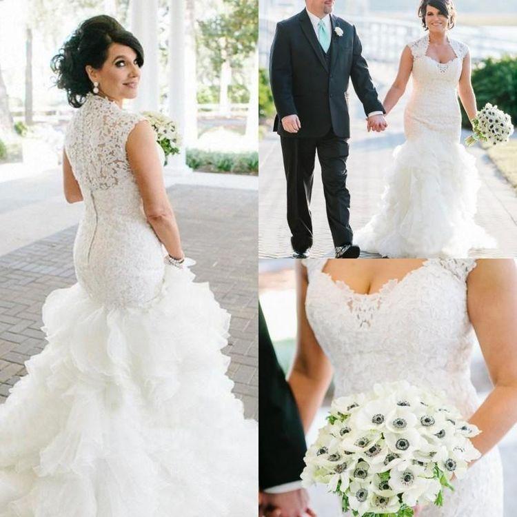 Vestidos de novia sirena Vestido de novia con apliques  – Boda