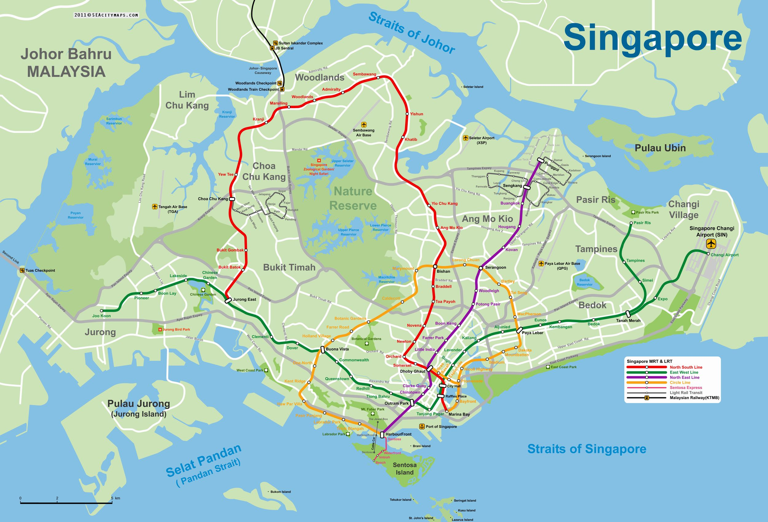 This is a map of Singapore | Singapore | Singapore map, Singapore ...