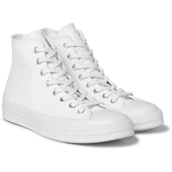 1970s Chuck Taylor All Star Canvas High-top Sneakers - WhiteConverse