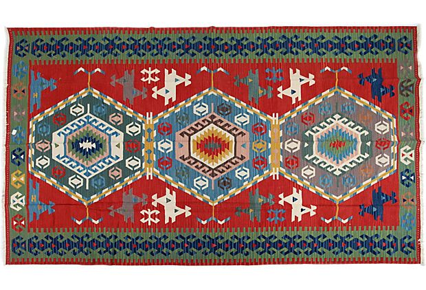Captivating I Love This Vintage Turkish Rug. The Pattern Is Called Konya Kilim, And Its  Contains Three Concentric Lozenges With A Akrep Motif (scorpion) At The ...