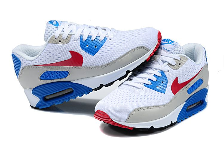 red blue and white nike air max women