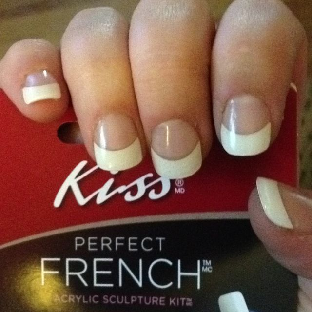 Acrylic Nail Kiss: Kiss Perfect French Acrylic Kit: $9.99 At Meijer And Just