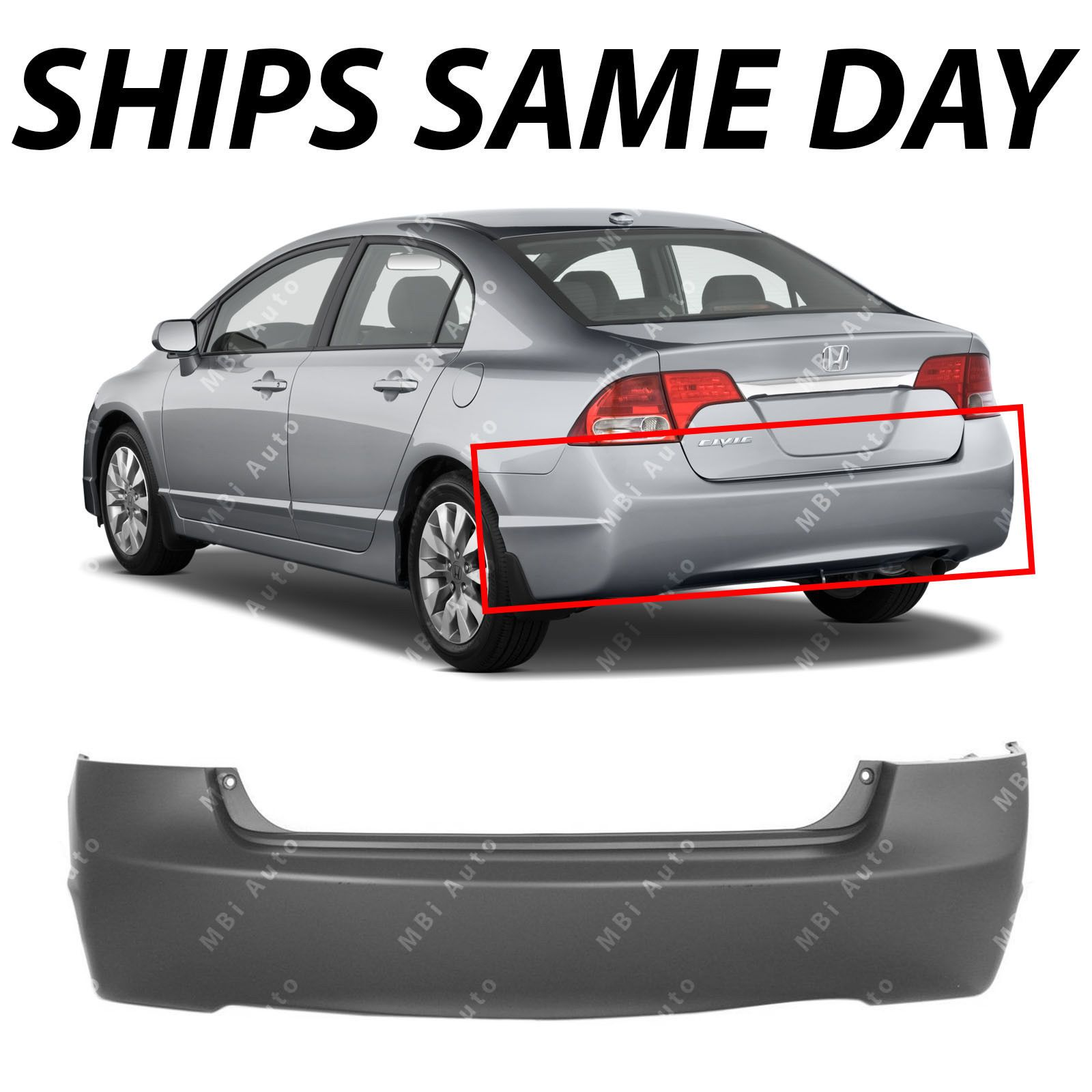 Nice Awesome New Primered Rear Bumper Cover Replacement For 2006 2011 Honda Civic Sedan 4dr 2017 2018 2011 Honda Civic Honda Civic Sedan Civic Sedan