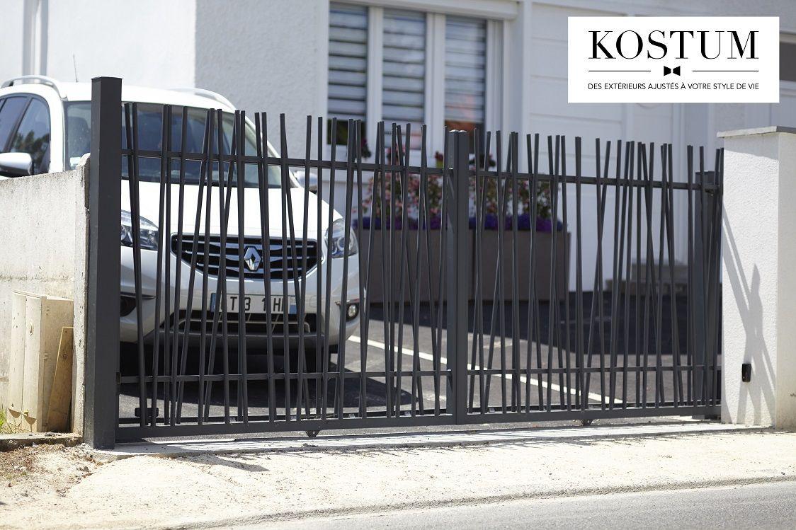 Portail Aluminium Deco Entree Entreemaison Amenagement Exterieur Fabricationfrancaise Gris Anthracite Ral7016 Portail Coulissant Portail Alu Et Portail Aluminium