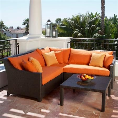 Bwood Patio Furniture Rst Outdoor Tikka Corner Sectional Sofa And Coffee Table Set Living Casual Seating Sets