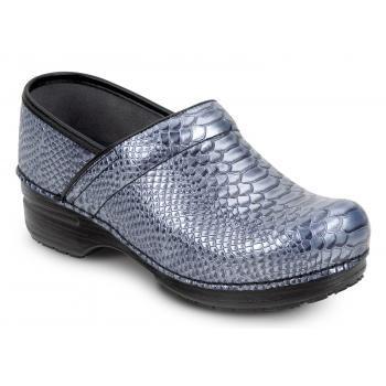 Dansko SDK080202 Women's Blue Caiman Clog MaxTrax Soft Toe Slip Resistant Clog