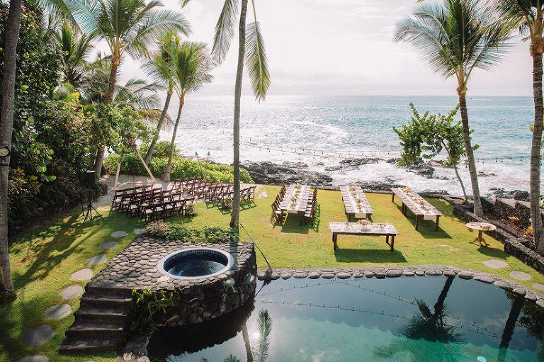 Kona Beach Bungalows Island Private Estate Wedding