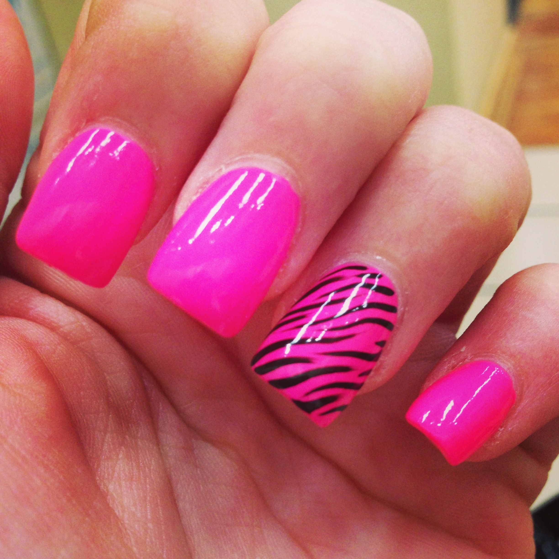 Zebra Nail Ideas: Pink Zebra Nails, Zebra Nails, Pink