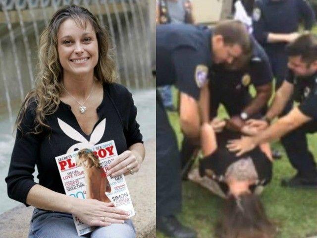 Police Detain Military Veteran Michelle Manhart for Taking Stomped