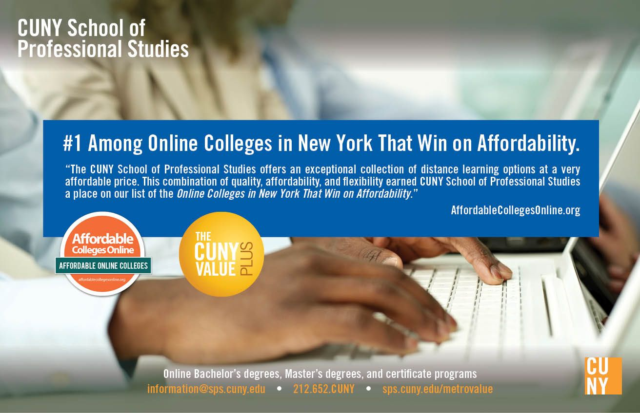 Cuny Sps Is Ranked 1 Among Online Colleges In New York That Win On