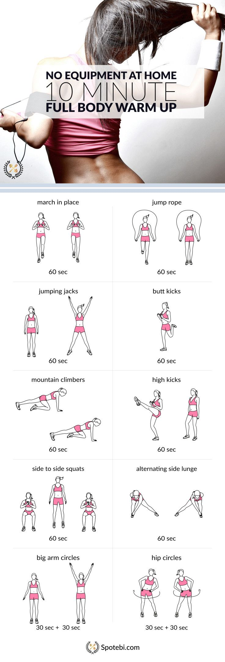 10 Minute No Equipment Full Body Warm Up | Cardio ...