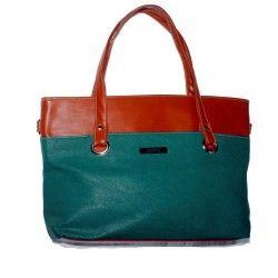 Amway Green Brown Bag