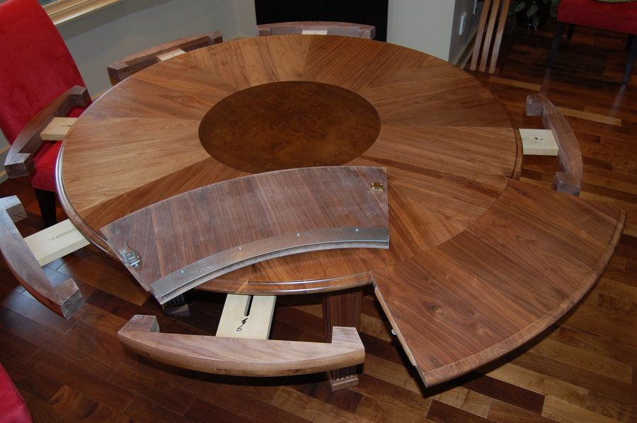 Expanding Round Table : Expandable Round Dining Table Furniture Expandable Round  Table For Dining Room Expandable