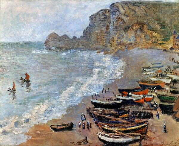 Claude Monet: Etretat, 1883 Photograph