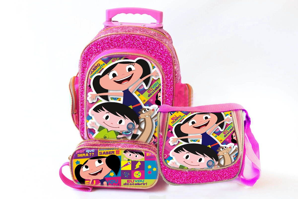 Mochila Bolsa Escolar Infantil Masculina Hot Wheels Rodinhas
