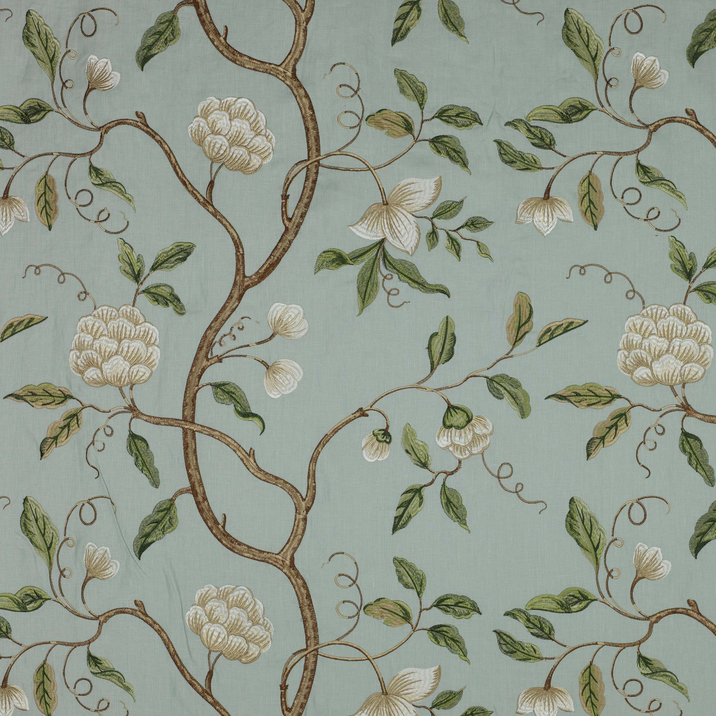 Snow Tree Linen Fabric Colefax And Fowler Grey Green