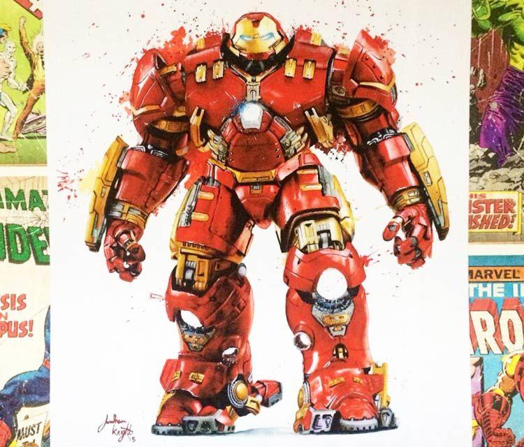 Hulkbuster Iron Man Color Drawing By Jonathan Knight Art Hulkbuster Colorful Drawings Knight Art