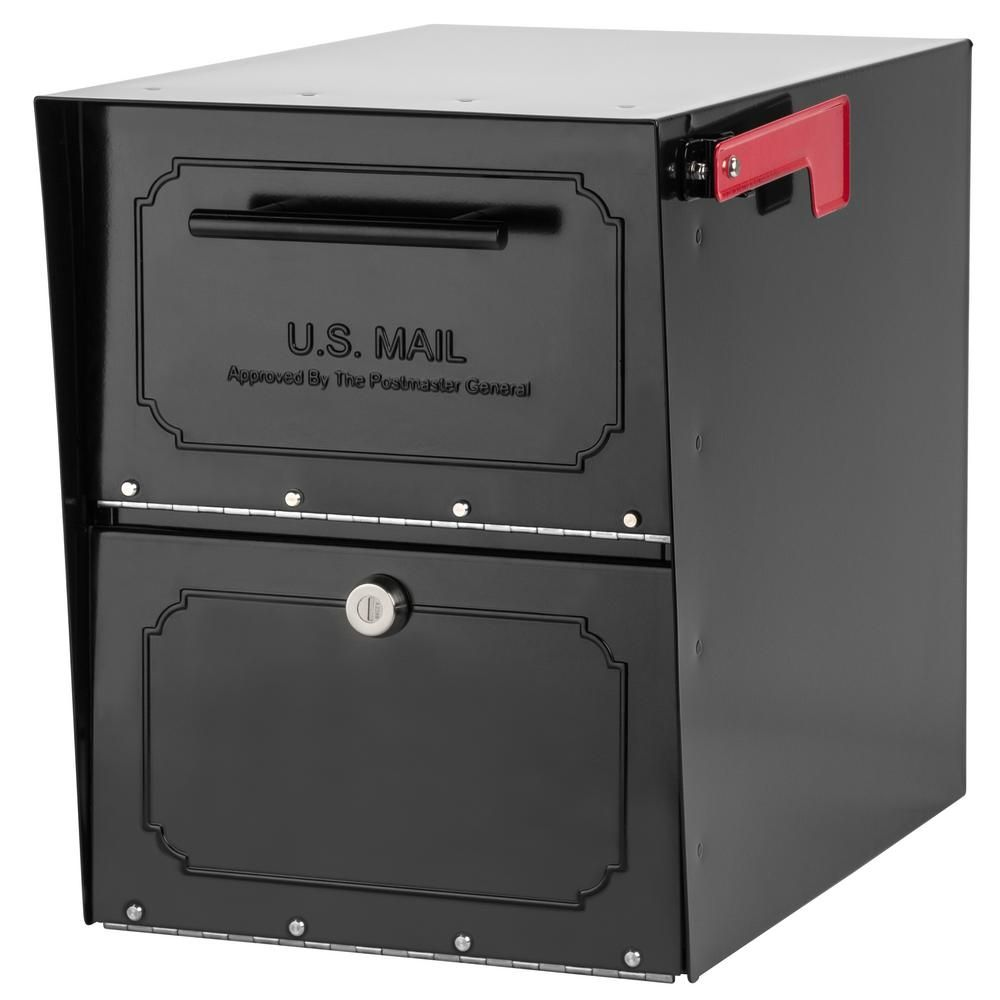 Architectural Mailboxes Oasis Classic Locking Post Mount Parcel Mailbox With High Security Reinforced Lock Black 6200b 10 Architectural Mailboxes Mounted Mailbox Post Mount