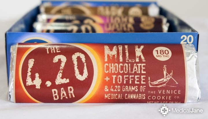 Venice Cookie Company's Milk Chocolate & Toffee 4.20 Bar: A Gluten-Free Treat
