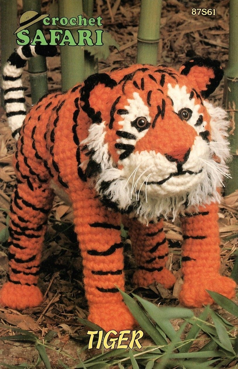 Safari Tiger Crochet Pattern Animal Annies Attic Toy