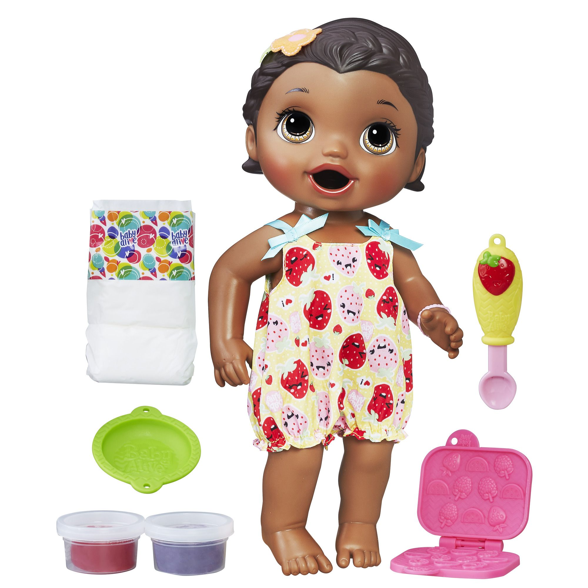 Baby Alive Super Snacks Snackin Lily African American Multi Color Baby Alive Dolls Baby Alive Baby Alive Food
