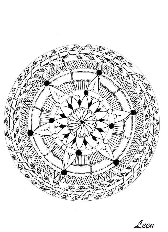 1001  ideen und bilder zum thema mandala blumen mit