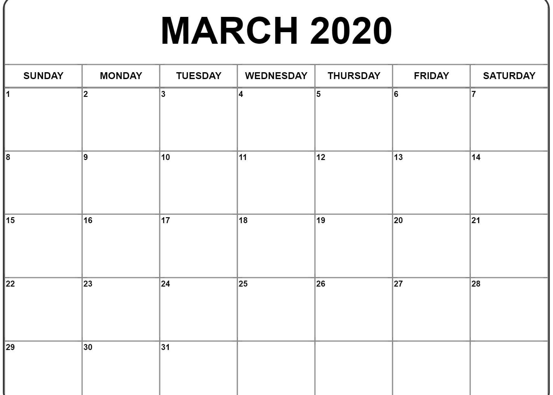 Free Fillable February Calendar 2020 Printable Editable With Notes