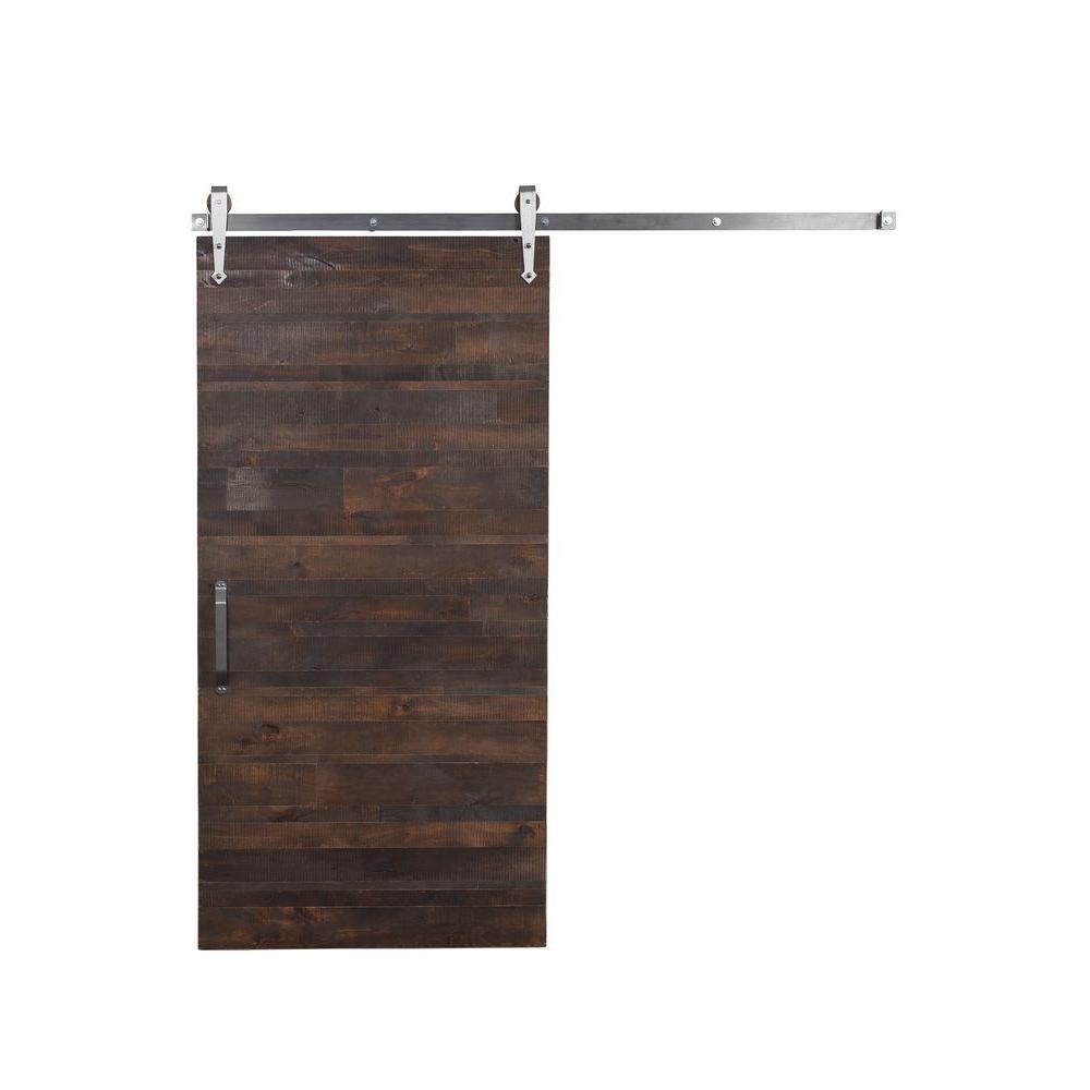 Rustica Hardware 36 In X 84 In Reclaimed Horizontal Wood Barn Door