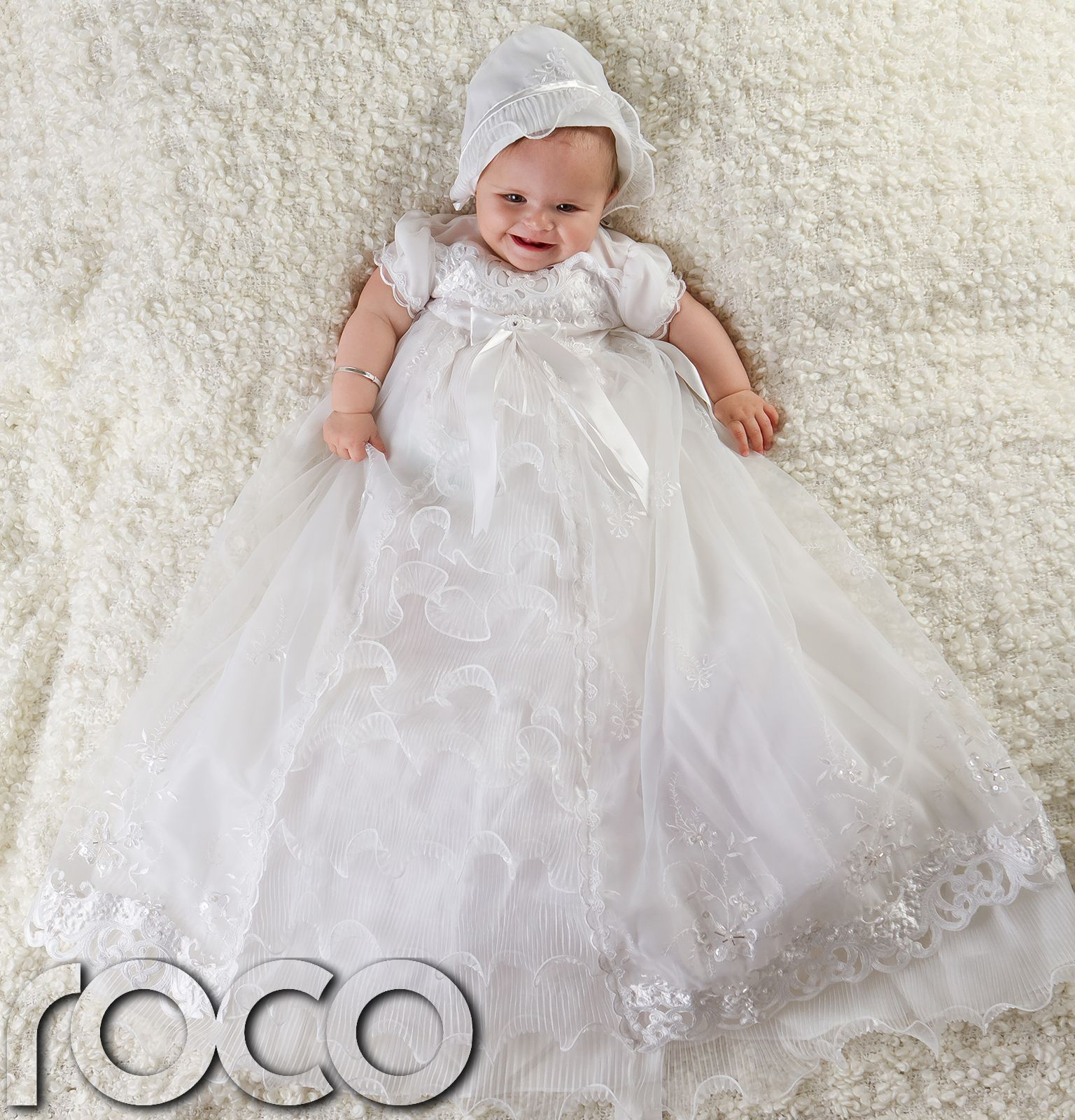 Girls White Dress Traditional Baptism Gown Christening Dresses 0 ...