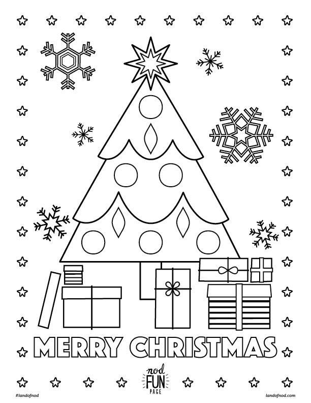 Merry Christmas Printable Coloring Page | Jardín
