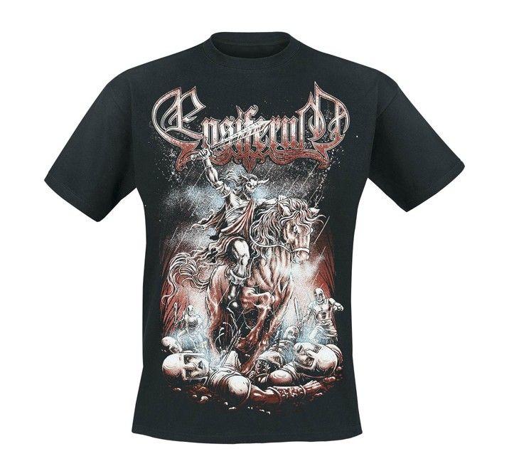 a6d321f999c Ensiferum T-Shirt Skeleton Horseman Blood Punk Rock T Shirt For Men ...