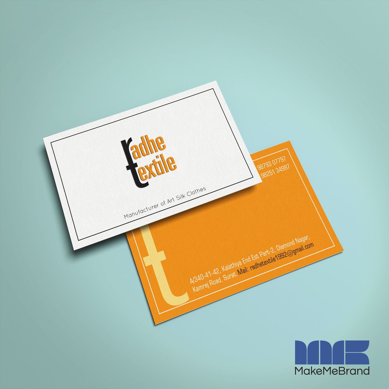 Business Card Designed For Radhe Textile Businesscard Textile