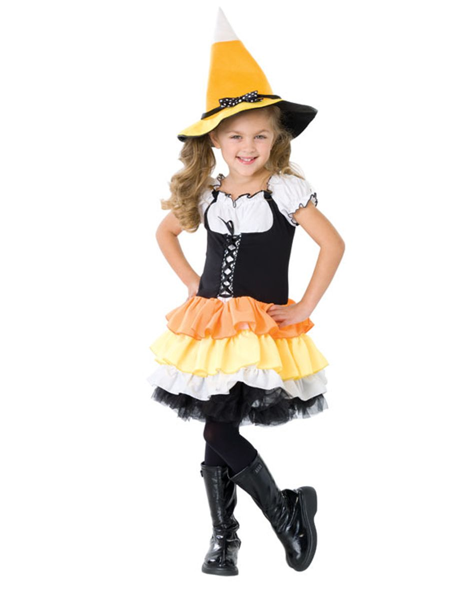 Kandy Korn Witch Girl Cute Candy Fancy Dress Up Halloween Child Costume