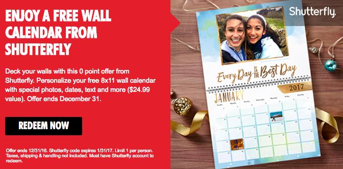 My Coke Rewards Free Shutterfly 8x11 Wall Calendar