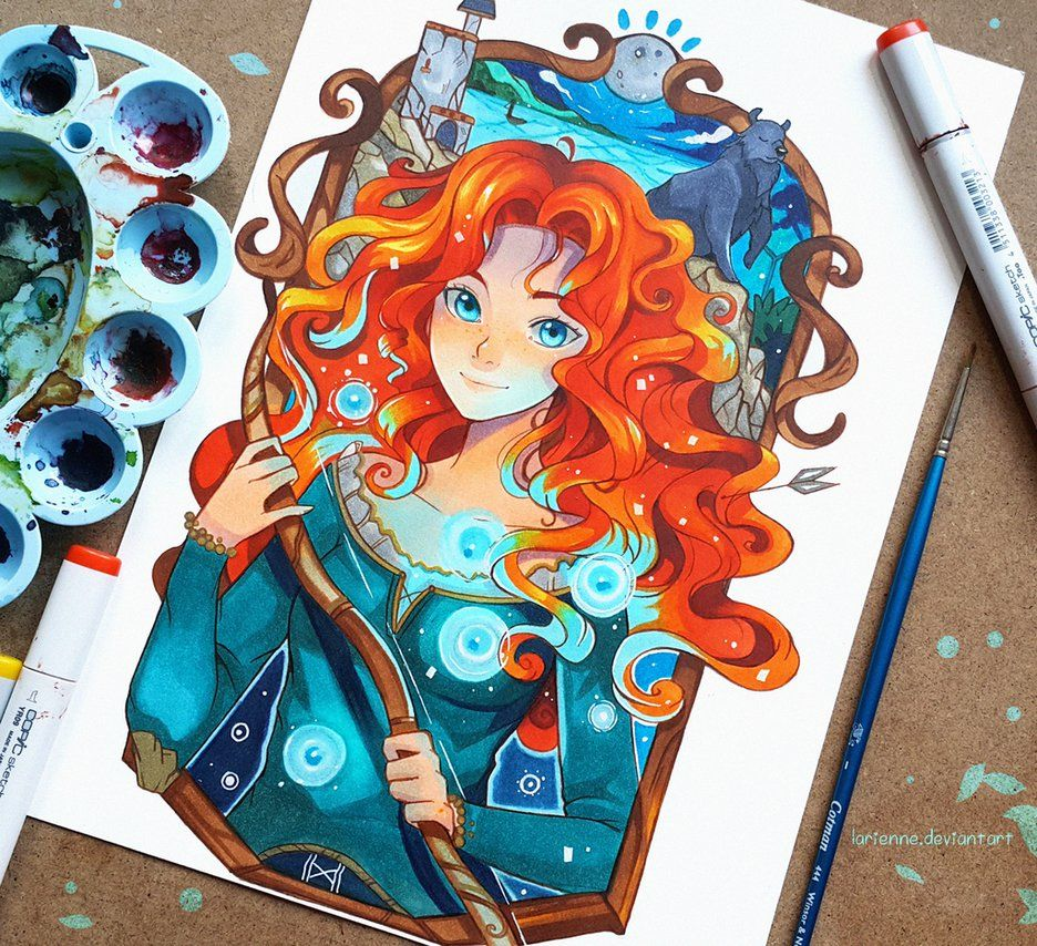 +Merida - Noble Lady Fair+ by larienne.deviantart.com on @DeviantArt